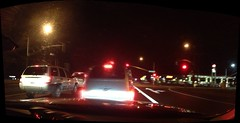 Traffic Light Panorama (sjrankin) Tags: california panorama trafficlights northerncalifornia edited gasstation offramp shinglesprings shinglespringscalifornia motherlodedrive southshingleroad 22february2013 highway50offramp northshingleroad
