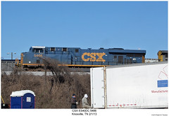 CSX ES40DC 5466 (Robert W. Thomson) Tags: railroad train diesel knoxville tennessee railway trains locomotive trainengine ge csx es44dc gevo es40 es40dc es44 evolutionseries sixaxle