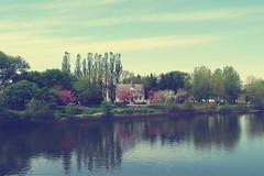 (Kap-) Tags: flowers trees house reflection fleurs river spring rivire arbres maison printemps rflexion