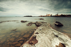 Toxic (- David Olsson -) Tags: lake seascape industry toxic water clouds landscape nikon rocks factory cloudy sweden stones may sigma overcast cliffs filter pollution 1020mm grad 1020 hitech chimneys vnern 2012 clearwater storaenso dx hammar vrmland naturevsman lakescape gnd skoghall environmentaldegradat