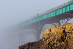Kryptonite (The Green Album) Tags: mist beach weather fog architecture pier seaside rocks victorian atmospheric clevedon