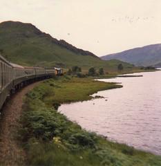 Lochailort - 04-08-1984 (agcthoms) Tags: scotland trains railtour railways invernessshire lochailort class37 37264