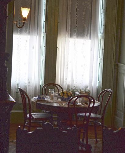 Breakfast nook in dining room - FDR National Historic Site - Springwood Estate - Hyde Park NY - 2013-02-17