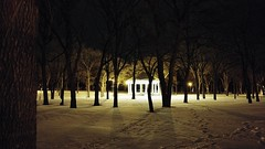 House of Light (Sulliv Foto) Tags: park trees snow night lights walk footprints samsung gazebo fargo lense darkskies fargonorthdakota samsungnx samsungnx20 samsung1855mmlense