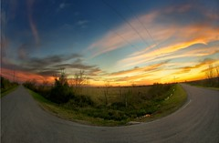 Sunset Curve (Tom Haymes) Tags: sunset clouds texas katy dusk fisheye prairie katytexas wallercounty katyprairie wallercountytexas