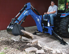 Backhoe with Thumb