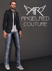 !!NEW!! AngelRED - Semi Exclusive Mens Mesh Tyler Jeans (AngelRED Couture) Tags: world life digital design 3d pants mesh avatar semi jeans gaming secondlife virtual rig mens second flexi exclusive lexi rigging rigged mmorpg fizz mmo deformer qarl zelin