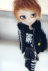Shaun. (neys.) Tags: red cute male doll wig mohair mao neko shaun haired maomao isul nekoneko