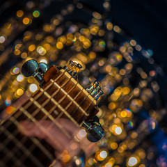 Bokeh in crescendo (Explored) (Bangern) Tags: light music color norway square movement nikon focus dof hand bokeh guitar seagull details getty strings crescendo d800 explored totw