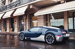 Grand Sport (Gaetan | www.carbonphoto.fr) Tags: auto morning blue lake wet car sport speed photoshop fren