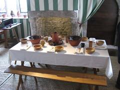 Tudor Merchant's House Tenby HBM (sueeverettuk) Tags: wood uk building wall wales canon bench table is floor tudor pottery nationaltrust pembrokeshire tenby tudormerchantshouse a570 a570is sueeverett severett