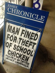 A Poultry Crime (London Permaculture) Tags: chicken crime headline poultry collapse economic theft financial contraction gfc essexchronicle creditcrunch globalfinancialcrisis collapsonomics