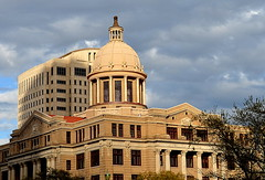 Harris County Civil Courthouse (elnina999) Tags: old city sky urban panorama abstract streets detail brick art texture motif stone wall closeup skyline architecture modern night facade train vintage buildings photography design construction ancient nikon mainstreet energy downtown day pattern exterior skyscrapers artistic metro dusk cityhall antique background library tx grunge border cement masonry perspective houston style surface structure dirty historic transportation frame photowalk courthouse material aged rough ornate pillars built stucco chasebuilding kirbylofts