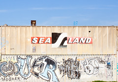 Sea Land (Thomas Hawk) Tags: california usa america graffiti oakland unitedstates unitedstatesofamerica sealand eastbay musher