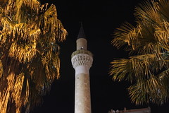 Minaret (msenerol) Tags: tree night turkey minaret trkiye turkiye mosque palm cami palmiye minare manisa