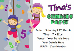 i111j climbing wall party invite (Locketmaid) Tags: show birthday girls boy party castle beach boys girl face kids painting balloons disco kid puppet slumber clown magic climbing invitation childrens invite bouncy sleepover invites invitations magician