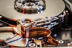 Dique dur (jmlpyt) Tags: macro photo hardware science métal dur lieux technologie disque appareils technologic technologique artetculture objetselémentsettextures textureseffets artcontemporaininstallations adivers