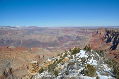 Grand Canyon (pamelainob (Pamela Schreckengost)) Tags: arizona snow grandcanyon southrim desertview grandcanyonnationalpark desertviewdrive grandcanyonsouthrim pamelaschreckengost pamschreckcom 2013pamelaschreckengost