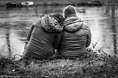 Love at the Riverbank (Joeri Kemp) Tags: lighting winter portrait people blackandwhite white black cold love ice river 50mm photoshoot sony bank coats thick a450 ringexcellence rememberthatmomentlevel1 rememberthatmomentlevel2 rememberthatmomentlevel3