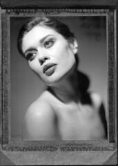 Marina (Braca Nadezdic) Tags: portrait blackandwhite bw beauty speed studio polaroid kodak positive graflex speedgraphic polaroid55 aeroektar