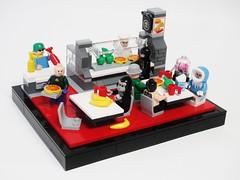 The Legion of Lunch Room (Tim Lydy) Tags: food lunch lego room headquarters doom legion