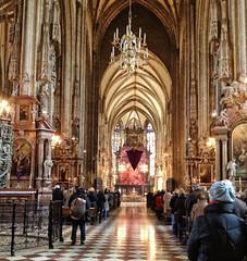 Sunday Mass at St Stephen's Cathedral, Vienna (larigan.) Tags: vienna austria cathedral interior prayer stephansdom mass ornate baroque catholicism ststephenscathedral placeofworship highaltar larigan phamilton iphone4s
