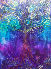 Tree of Life - Purple (Christy Freeman - artist) Tags: horse dog cat breed petportrait custompainting oilportrait watercolorartist petart
