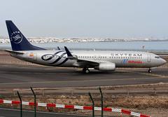 EC-JHK_01 (GH@BHD) Tags: aircraft aviation lanzarote boeing airliner 737 alliance aireuropa logojet skyteam specialcolours ecjhk arrecifeairport
