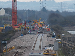 New Loughor railway bridge 1st April 2013 (2) (Gareth Lovering) Tags: bridge water swansea wales night river landscape group railway trains olympus llanelli user omd lovering networkrail loughor em5 oowug