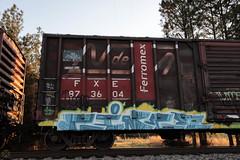 Cinco (Revise_D) Tags: railroad art graffiti cinco freight revised trainart fr8 aubs ferromex benching fr8heaven fr8aholics theaubs