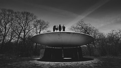 The Colony (Richard Rhyme) Tags: toronto architecture forest shadows space young sombra ufo structure retro donut curve xfiles spacewalk