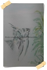 Angelfish - Study Watercolor (michaelangelo_48) Tags: fish animal angel last watercolor painting easter heaven god drawing jesus sp tropical watercolour risen angelfish gospel fins judgment freshwater ressurection pterophyllum