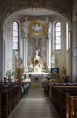 "the Catholic Church of St. Arbogast in ""Haslach im Kinzigtal"", looking to the choir (BZK2011) Tags: choir catholicchurch chor haslachimkinzigtal starbogast"