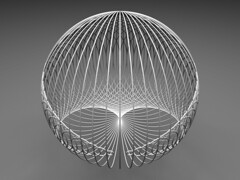 Cardioid Ball (fdecomite) Tags: circle math povray cardioid
