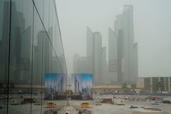 #850E6809 - Sandy day in Dubai (crimsonbelt) Tags: street city storm buildings reflections sand dubai scape