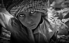 Arabian eyes (Ahmad Fayadh) Tags: boy portrait bw white black eye kid eyes child arab oman