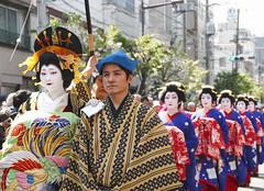 OIRAN DOCHU -  (ajpscs) Tags: festival japan japanese tokyo prostitute pins parade  nippon entertainer  kimono obi procession asakusa hairstyle complex matsuri dori  geta skill highclass courtesan servants combs yoshiwara oiran tayuu  patronise ajpscs 10    ichiyozakurakomatsubashi  oirandouchu  ichiyouzakuramatsuri edo16001868 yoshiwarapleasure komageta mitsuashi sanmaibageta hachimoji   edo courtesan yjo