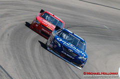 Elliott Sadler leads Mike Wallace during practice (HMP Photo) Tags: nascar autoracing motorsports speedway elliottsadler stockcarracing texasmotorspeedway mikebliss circletrack nationwideseries asphaltracing nikond7000