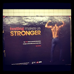 STRONGER TESTING AD (jer.johns) Tags: nyc ads subway aids hiv ad testing stronger subways
