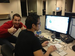 Thumbs up for app submission (Sensaet) Tags: team startup paloalto siliconvalley app cooliris