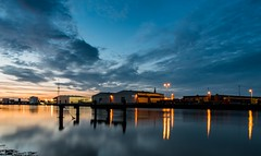 Great Yarmouth Harbour (Number Johnny 5) Tags: exposure night tamron d750 nikon sunset river industrial long reflections yare gorleston yarmouth 2470mm norfolk great