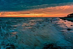 Sundown at the West Beach (ThUL_Photographie) Tags: weststrand prerow landscape landschaft sonnenaufgang sundown balticsea seascape 2016 darserort dars ostsee