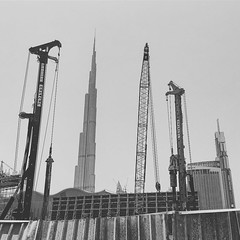 After all these years ... It's still #growing ... #dubai #burjkhalifa #blackandwhite #construction #endlessconstruction #dubaiheat #tallestbuildingintheworld #neverfinished (Bojan Tercon) Tags: instagramapp square squareformat iphoneography uploaded:by=instagram moon