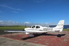 Cirrus SR22 N982CD at Isle of Man EGNS 26/08/16 (IOM Aviation Photography) Tags: cirrus sr22 n982cd isle man egns 260816