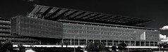 Endesa building (Madrid) (prodicio) Tags: arquitectura rafaeldelahoz arquitecture samsungnx1000 madrid bw panoramica pano endesa
