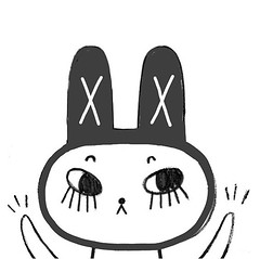 Black bunny (Andrea Kang) Tags: ifttt instagram drawing sketch doodle black bunny rabbit sketchbook cute lashes