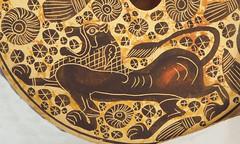 Greek Pottery Detail (tedavisphotography) Tags: sonya65 corelpaintshoppro greece greek pottery lion oillamp corinthianperiod