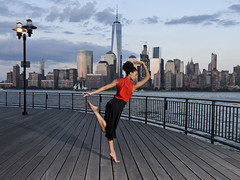 Along the Hudson (Narratography by APJ) Tags: apj dance narratography nj dancer beautiful nyc hudsonriver freedom tower jerseycity