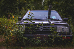 Vintage [188] (yegor454) Tags: old automobile car volkswagen jetta perfect antique ancient ruins vibes 35mm exposure explore experience expression 365 emotion energy epic exotic canada ontario green forest life canon sigma create art machine memory distance nostalgia perspective photography digital crop