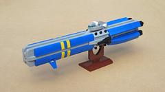 EML Frigate (Red Spacecat) Tags: lego moc frigate eml gauss railgun military space microspace battleship redspacecat